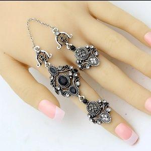 Turkish Rings Set- Black n Silver